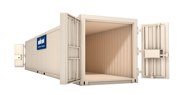 mobile mini storage container, 40-footer, double entry, double doors