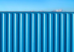 shipping container on land