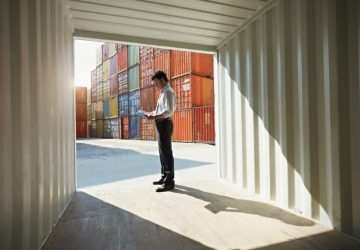 Inspect inside the conex container