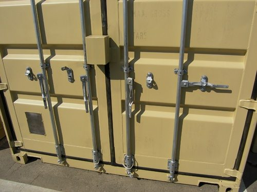 Shipping container lock system