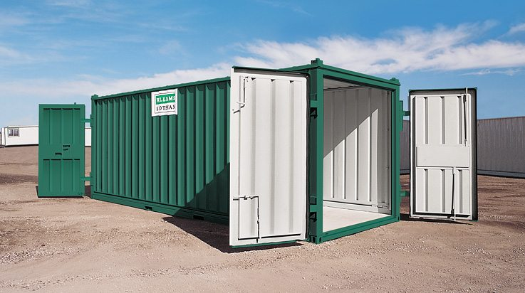 storage container on location