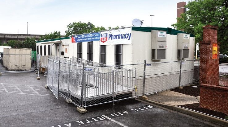 Rite Aid pharmacy temporary mobile office