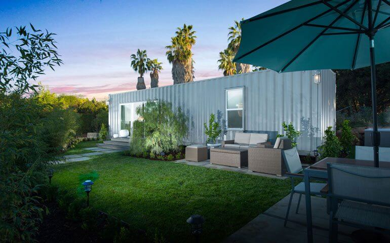 shipping container home in Santa Barbara